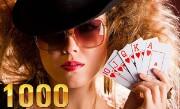 'Тысяча (1000) – Супер Тысяча' - Тысяча (1000) – популярная карточная игра для любителей преферансов и не только! Цель игры Тысяча – набор 1000 очков. Участвуйте в турнирах, общайтесь в чате, получайте подарки!