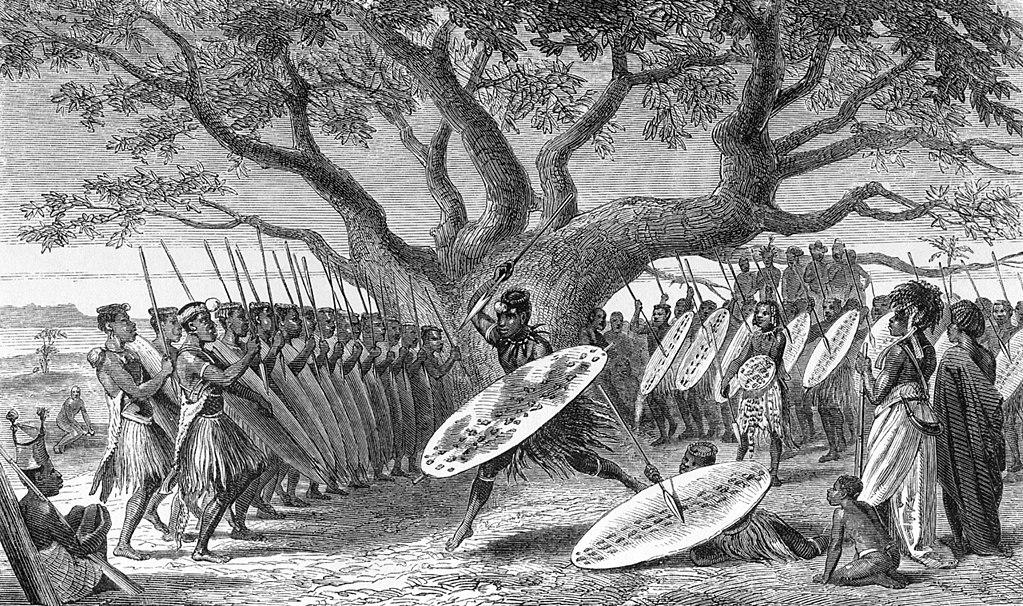 Иллюстрация из книги Ливингстона.